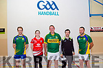 Glenbeigh GAA Handball Club has opened a new &quot;One Wall&quot; Handball court in the Glenbeigh Sports Centre.<br /> Pictured L-R are world class players Jack O'Shea, Catriona Casey from Ballydesmond, Co.Cork, John Joe Quirke, Referee Danny Riordan from Ballymacelligott &amp; Dominick Lynch.