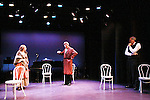 """Paula Nance - Tom Galantich - Alan Altschuler in Pygmalion at """"Union Women at Work: Inspiration In Motion"""" on March 5, 2012 at Theatre at Saint Peter's Church - Home of The York Theatre, New York City, New York which was """"sponsored by Actors' Equity Associations Eastern EEO Committee.  The event was an Equity event in celebration of Womens History Month.  (Photo by Sue Coflin/Max Photos) (Photo by Sue Coflin/Max Photos)"""