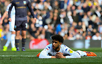 Leeds United's Tyler Roberts reacts after a missed chance<br /> <br /> Photographer Alex Dodd/CameraSport<br /> <br /> The EFL Sky Bet Championship - Leeds United v Sheffield Wednesday - Saturday 13th April 2019 - Elland Road - Leeds<br /> <br /> World Copyright © 2019 CameraSport. All rights reserved. 43 Linden Ave. Countesthorpe. Leicester. England. LE8 5PG - Tel: +44 (0) 116 277 4147 - admin@camerasport.com - www.camerasport.com