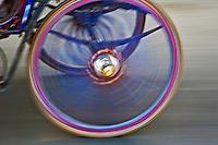 Spinning wheel on horse drawn carriage, Edfu, Egypt.