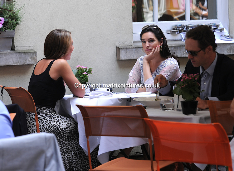 NON EXCLUSIVE PICTURE: PALACE LEE / MATRIXPICTURES.CO.UK<br /> PLEASE CREDIT ALL USES<br /> <br /> WORLD RIGHTS<br /> <br /> English glamour model and television presenter, Kelly Brook is pictured in London.<br /> <br /> The newly single Kelly looks summery in a loose, sheer dress as she spends time with a friend.<br /> <br /> AUGUST 14th 2013<br /> <br /> REF: LTN 135517