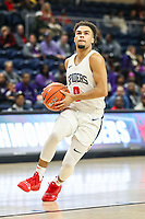 Washington, DC - December 22, 2018: Richmond Spiders guard Jacob Gilyard (0) in action during the DC Hoops Fest between Hampton and Howard at  Entertainment and Sports Arena in Washington, DC.   (Photo by Elliott Brown/Media Images International)