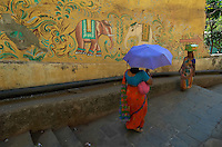 There is this little know old Hindu Temple in central Mumbai, the area is surrounded by high rise buildings and only this colorful wall remains, restoration are on the way to restore the old buildings, outskirts of Mumbai about 2 hours from central Mumbai