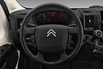 Car pictures of steering wheel view of a 2017 Citroen Jumper Combi Confort 4 Door Combi