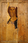 Rublev, Andrei (1360/70-1430)\ State Tretyakov Gallery, Moscow\ c.1410\ 158x108\ Tempera on panel\ Russian icon \ Russia\ Bible\