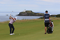 Lucas Bjerregaard (DEN) on the 4th during Round 1 of the Aberdeen Standard Investments Scottish Open 2019 at The Renaissance Club, North Berwick, Scotland on Thursday 11th July 2019.<br /> Picture:  Thos Caffrey / Golffile<br /> <br /> All photos usage must carry mandatory copyright credit (© Golffile | Thos Caffrey)