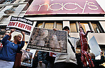 UNITED STATES, NEW YORK,  November 25, 2011..Animal Rights Activists Protest demanding stop buy Fur, during the Black Friday outside Macy's in Herald Square in New York November 25, 2011. VIEWpress /Kena Betancur..consumer spending accounting for 70 per cent of the U.S. economy, it comes as a much-needed lifeline for the country's ailing finances - and signals good news for shops in the run up to Christmas..Local Media Report.