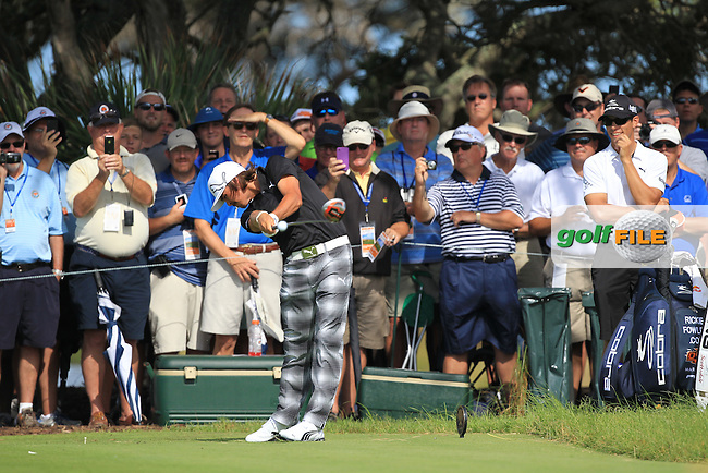 Rickie Fowler (USA) tees off the 7th tee during Wednesday's practice day of the 2012 PGA Golf Championship at The Ocean Course, Kiawah Island, South Carolina, USA 7th August 2012 (Photo Eoin Clarke/www.golffile.ie)