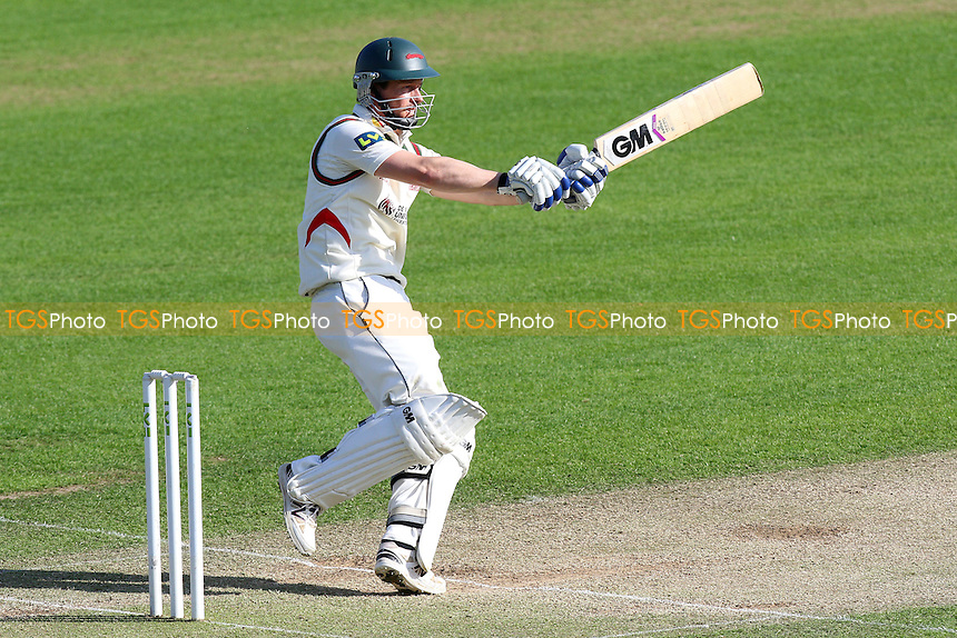 Matthew Boyce hits four runs for Leicestershire - Essex CCC vs Leicestershire CCC - LV County Championship Division Two Cricket at the Essex County Ground, Chelmsford, Essex - 02/06/15 - MANDATORY CREDIT: Gavin Ellis/TGSPHOTO - Self billing applies where appropriate - contact@tgsphoto.co.uk - NO UNPAID USE