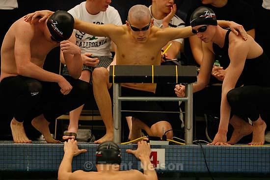 West Jordan HS, 200 yard medley relay. 5A State Championship Swim Meet, held at BYU