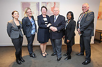 Pictured: Stephen Chapman, Welsh Government Anti-slavery Co-ordinator (4th L), Kim Ann Williamson of the CPS (3rd L) with the UK delegation Thursday 02 March 2017<br /> Re: Multi-agency Wales and Albania Anti-Slavery Meeting discussing issues of people trafficking by organised gangs, Cardiff, UK