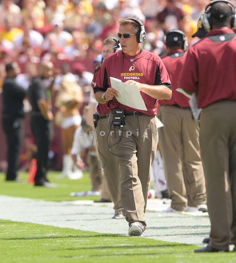 HEAD COACH, JIM ZORN, of the Washington Redskins, in action during the Redskins game against the New Orleans Saints on September 14, 2008 in Washington DC...Redskins win 29-24..SportPics