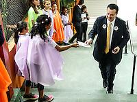 SÃO PAULO, SP, 02.12.2016 - DENGUE-SP . O Ministro da Ciencias e Tecnologia Gilberto Kassab participa :de evento de lançamento da campanha contra a dengue, na escola Alcides da Costa Vidigal, no Butantã, zona oeste de São Paulo, na manhã desta sexta-feira, 02. (Foto: Adriana Spaca/Brazil Photo Press)