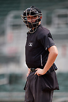 Home plate umpire Trevor Danneggar during a Florida Instructional League game between the Baltimore Orioles and the Boston Red Sox on September 21, 2018 at JetBlue Park in Fort Myers, Florida.  (Mike Janes/Four Seam Images)