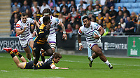 Leicester Tigers' Manu Tuilagi <br /> <br /> Photographer Stephen White/CameraSport<br /> <br /> Gallagher Premiership - Wasps v Leicester Tigers - Sunday 16th September 2018 - Ricoh Arena - Coventry<br /> <br /> World Copyright &copy; 2018 CameraSport. All rights reserved. 43 Linden Ave. Countesthorpe. Leicester. England. LE8 5PG - Tel: +44 (0) 116 277 4147 - admin@camerasport.com - www.camerasport.com