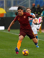 Roma&rsquo;s Diego Perotti in actionduring the Italian Serie A football match between Roma and Napoli at Rome's Olympic stadium, 4 March 2017. <br /> UPDATE IMAGES PRESS/Riccardo De Luca