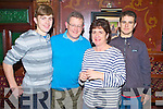 Pictured at the Killarney Rugby Club quiz in the Killarney Avenue hotel on Thursday night were Brendan, Mike, Mary and Pat Fuller.