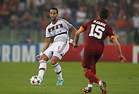 Bayer's Mehdi Benatia during the Champions League Group E soccer match between As Roma and FC Bayern Munchen at the Olympic Stadium in Rome october 21 , 2014.