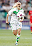 VfL Wolfsburg's Lara Dickenmann during UEFA Women's Champions League 2015/2016 Final match.May 26,2016. (ALTERPHOTOS/Acero)
