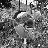 Cycling through the jungle near Sun Moon Lake, Taiwan.