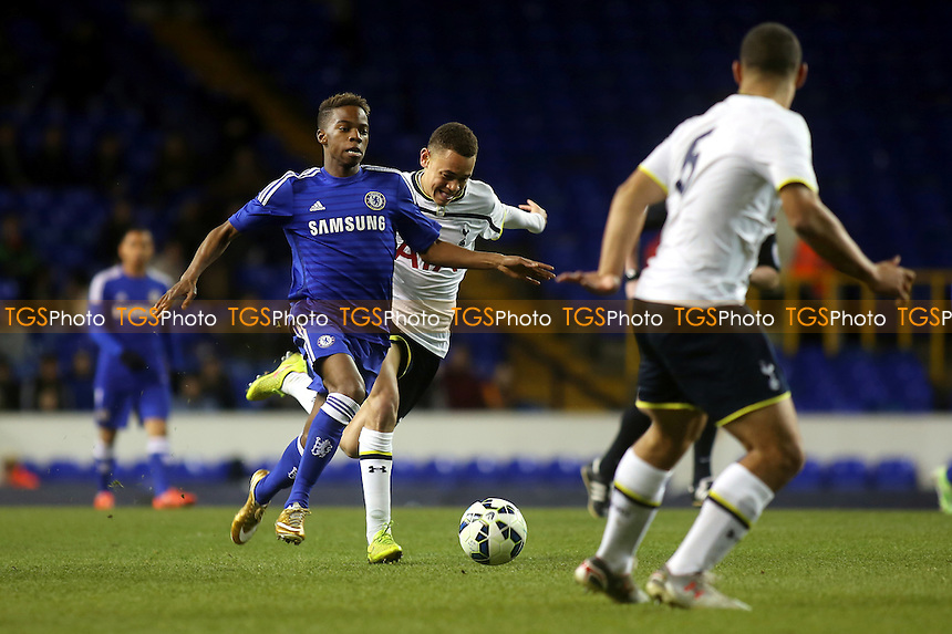 Charly Musonda of Chelsea takes on the Tottenham defence - Tottenham Hotspur Youth vs Chelsea Youth - FA Youth Cup Semi-Final 1st Leg Football at White Hart Lane, Tottenham, London - 05/03/15 - MANDATORY CREDIT: Paul Dennis/TGSPHOTO - Self billing applies where appropriate - contact@tgsphoto.co.uk - NO UNPAID USE