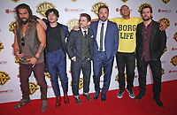 29 March 2017 - Las Vegas, NV - Jason Mamoa, Ezra Miller, Zack Snyder, Ben Affleck, Ray Fisher, Henry Cavill. 2017 Warner Brothers The Big Picture Presentation at CinemaCon at Caesar's Palace.  Photo Credit: MJT/AdMedia