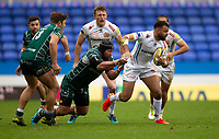Exeter Chiefs' Tom O'Flaherty in action during todays match<br /> <br /> Photographer Bob Bradford/CameraSport<br /> <br /> Aviva Premiership Round 20 - London Irish v Exeter Chiefs - Sunday 15th April 2018 - Madejski Stadium - Reading<br /> <br /> World Copyright &copy; 2018 CameraSport. All rights reserved. 43 Linden Ave. Countesthorpe. Leicester. England. LE8 5PG - Tel: +44 (0) 116 277 4147 - admin@camerasport.com - www.camerasport.com
