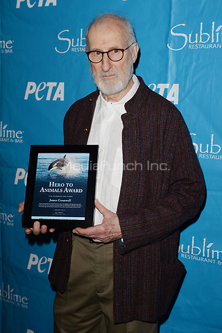 FORT LAUDERDALE, FL - JANUARY 11: James Cromwell receives PETA's annual Hero of Animals Award at Sublime Restaurant & Bar on January 11, 2018 in Fort Lauderdale, Florida Credit: mpi04/MediaPunch