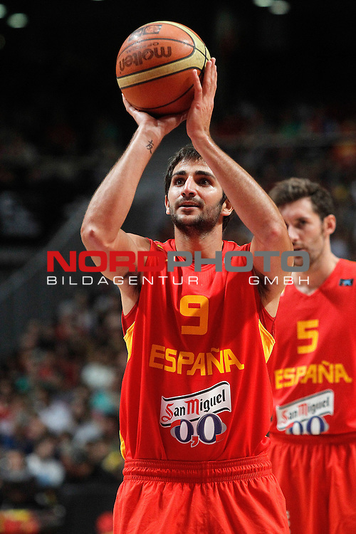 Spain's Ricky Rubio during friendly match.August 23,2012. Foto © nph / Acero)