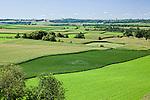 Rolling green farmland Lanesoro Harmony area