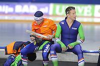 SPEEDSKATING: CALGARY: 14-11-2015, Olympic Oval, ISU World Cup, Team pursuit, Arjan Stroetinga (NED), Jan Blokhuijsen (NED), ©foto Martin de Jong