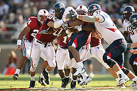 14 October 2006: Trevor Hooper, Clinton Snyder, Michael Okwo make a tackle during Stanford's 20-7 loss to Arizona during Homecoming at Stanford Stadium in Stanford, CA.