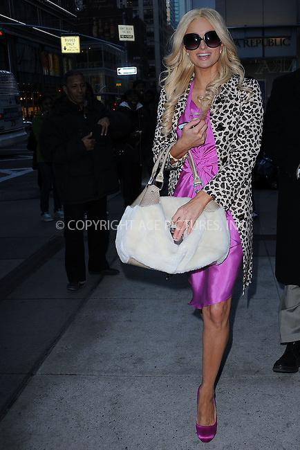 WWW.ACEPIXS.COM . . . . . ....February 4 2010, New York City....Actress Paris Hilton seen making a commercial on the Upper East Side of Manhattan on February 4 2010 in New York City....Please byline: KRISTIN CALLAHAN - ACEPIXS.COM.. . . . . . ..Ace Pictures, Inc:  ..tel: (212) 243 8787 or (646) 769 0430..e-mail: info@acepixs.com..web: http://www.acepixs.com