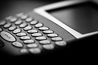 PDA Smartphone macro shot in black and white