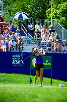 Gerina Piller (USA) watches her tee shot on 1 during Sunday's final round of the 2017 KPMG Women's PGA Championship, at Olympia Fields Country Club, Olympia Fields, Illinois. 7/2/2017.<br /> Picture: Golffile | Ken Murray<br /> <br /> <br /> All photo usage must carry mandatory copyright credit (&copy; Golffile | Ken Murray)