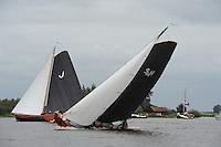 SKUTSJESILEN: GROU: SKS skûtsjesilen, Friese Sporten, 30-07-2011, Fryslân, Jouster skûtsje (Oeral Thús), Súdwesthoek (Stavoren), ©foto Martin de Jong..