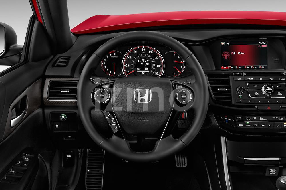 Car pictures of steering wheel view of a 2016 Honda Accord Sport 4 Door Sedan Steering Wheel
