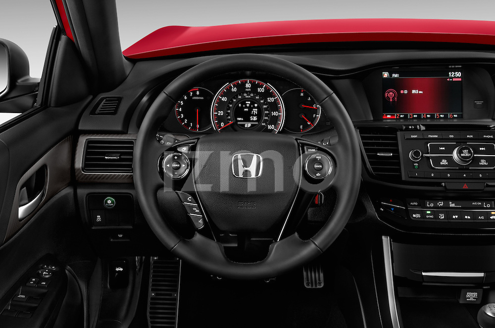 Car pictures of steering wheel view of a 2017 Honda Accord Sport 4 Door Sedan Steering Wheel