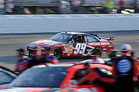 May 2, 2008; Richmond, VA, USA; NASCAR Sprint Cup Series driver Carl Edwards during qualifying for the Dan Lowry 400 at the Richmond International Raceway. Mandatory Credit: Mark J. Rebilas-US PRESSWIRE