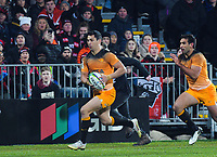 Jaguares' Matias Moroni in action during the 2019 Super Rugby final between the Crusaders and Jaguares at Orangetheory Stadium in Christchurch, New Zealand on Saturday, 6 July 2019. Photo: Dave Lintott / lintottphoto.co.nz