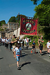 Hepworth Feast Yorkshire 2018. The Feast Day procession commemorates the end of the Great Plague, that started around 1665 and claimed many lives in the village. The procession goes through the village to the Scholes and then back, taking about 2 hours. Hymns and songs of  praise are sung at various location. A Feast and tea is available in the school and children get a packed picnic.