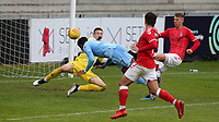 Ali Koiki scores Burnley U23's second goal with a fine header during Charlton Athletic Under-23 vs Burnley Under-23, Professional Development League Football at Princes Park on 9th September 2019