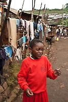 Nairobi, June 2010 -   the Kibera street scene outside the St. Catherine's children's home.