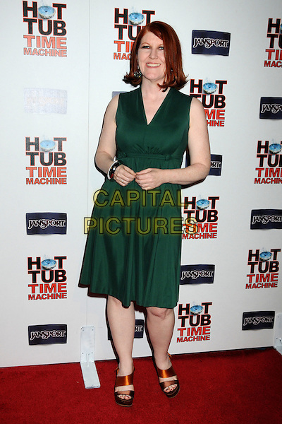 "KATE FLANNERY.""Hot Time Time Machine"" World Premiere Party held at the Cabana Club, Hollywood, California, USA..March 17th, 2010.full length green sleeveless dress orange sandals straps .CAP/ADM/BP.©Byron Purvis/AdMedia/Capital Pictures."