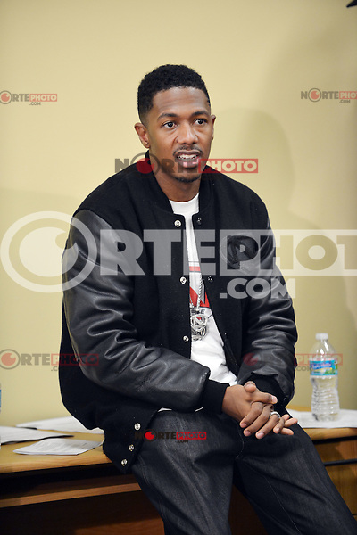 """FORT LAUDERDALE, FL - AUGUST 16: """"America's Got Talent"""" host Nick Cannon teamed up with Office Depot to to donate 20,000 backpacks to children in South Florida on August 16, 2012 in Fort Lauderdale, Florida.  (photo by: MPI10/MediaPunch Inc.) /NortePhoto.com<br /> <br /> **CREDITO*OBLIGATORIO** *No*Venta*A*Terceros*<br /> *No*Sale*So*third* ***No*Se*Permite*Hacer*Archivo***No*Sale*So*third*"""