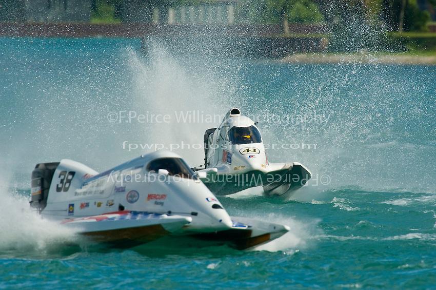 8-10 August 2008  Algonac, MI USA.Jeff Shepard (#38) and Robert Dinicolantoni (#41) race into turn 4..©F.Peirce Williams 2008