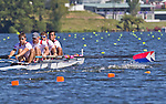 Rowing, United States Men's Men's Four, M4-, Giuseppe Lanzone, Henrik Rummel, Samuel Stitt, Silas Stafford, stroke, US national rowing team, 2010 FISA World Rowing Championships, Lake Karapiro, Hamilton, New Zealand, heat, Monday 1 November,