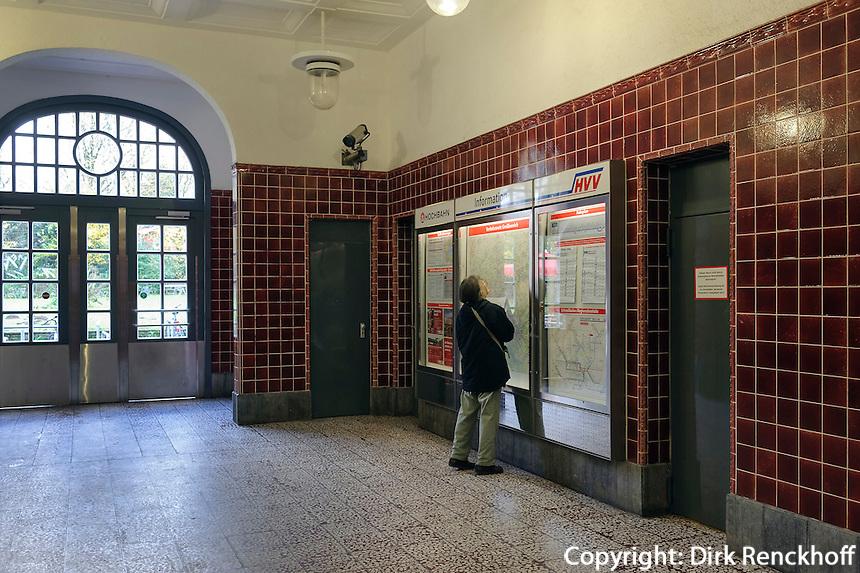 U-Bahn-Station Ohlstedt, Jugendstilbau von 1918, Hamburg, Deutschland