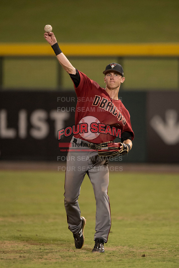 AZL Diamondbacks right fielder Kevin Watson Jr. (7) during an Arizona League game against the AZL Cubs 1 at Sloan Park on June 18, 2018 in Mesa, Arizona. AZL Diamondbacks defeated AZL Cubs 1 7-0. (Zachary Lucy/Four Seam Images)