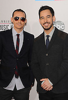 LOS ANGELES, CA - NOVEMBER 18: Chester Pennington, Michael Shinoda at The 40th Annual American Music Awards at The Nokia Theater LA Live, in Los Angeles, California. November 18, 2012. Photo by: MPI99 / MediaPunch Inc NortePhoto